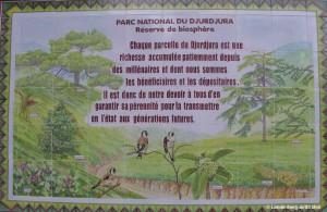 Panneau dans le parc du Djurdjura.