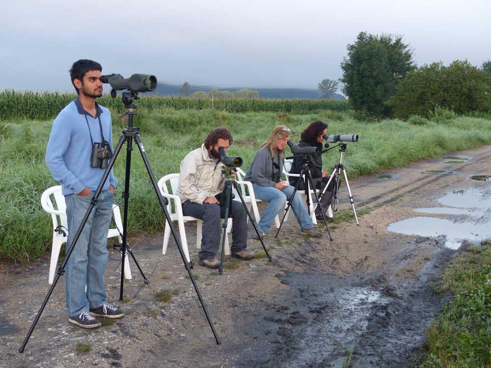 Flann Chambers avec Emmanuel, Wendy et Andreia