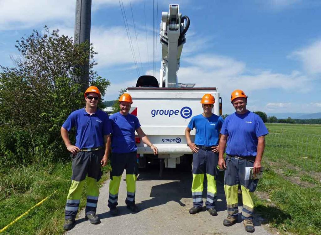 Grand merci à l'équipe du Groupe-E pour son efficacité !