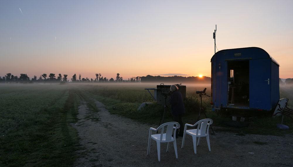 La roulotte à l'aube