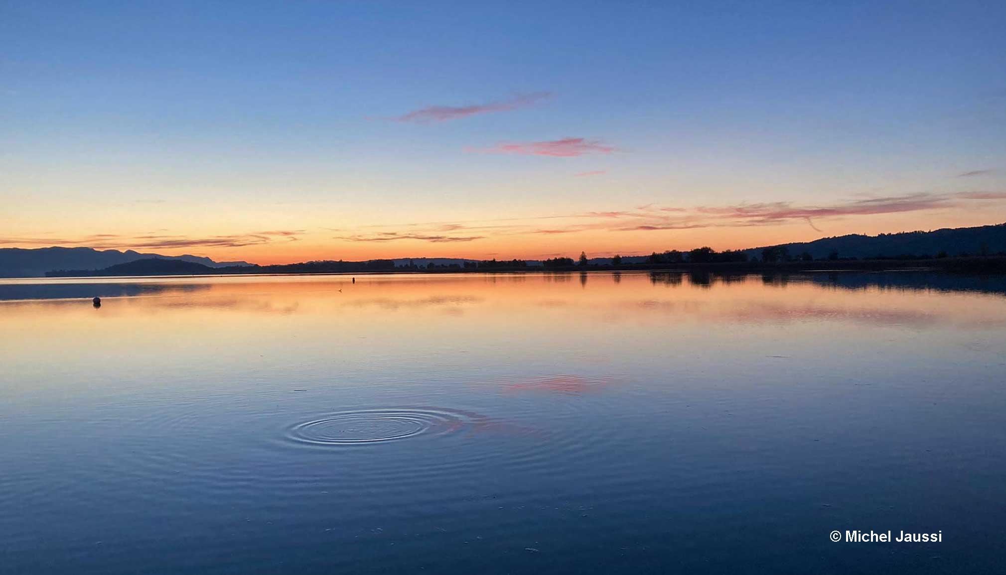 l'aube sur Lac de Bienne